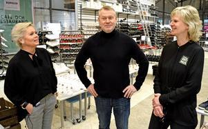 Marie Viberg, Thomas Johansson och Ewa Malmberg ser fram emot den nya butiken. Det blir ingen lång flytt.