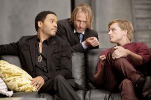 """Lenny Kravitz (till vänster) i """"Hunger Games""""."""
