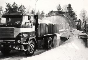 Snöröjning, 1969. Foto: Okänd
