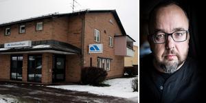 Johan Eklund vid ST-facket befarar att regeringens nya besked inte räddar AF-kontoren i länet. Montagefoto: Mats Laggar, Anton Ryvang