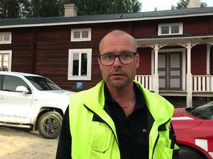 Kenneth Eriksson, insatsledare hos räddningstjänsten.