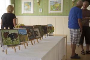 Det var många besökare på plats på utställningen.