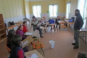 Nu har  konstskolan i Nås startat upp med många elever på plats.