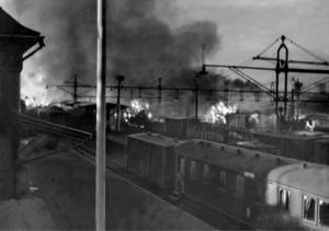 """""""Min pappa blev ögonvittne till den stora Krylbosmällen 1941 då ett tysktåg började brinna och hela Krylbo höll på att försvinna på grund av att en ammunitionsvagn fattade eld"""", skriver signaturen KAH.  Foto: TT"""