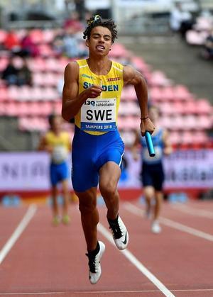 Zion Eriksson har tidigare tävlat i ungdomsfinnkampen för Sverige.