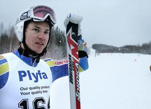 André Myhrer i Hasselabacken 2008. Nu får han en egen nedfart uppkallad efter sig efter alla framgångar i slalom.