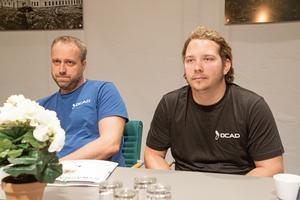Roger Tegnér och Robin Leiding på nystartade företaget Ocad.