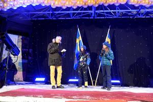 Även Magdalena Forsberg var på plats för att hylla Kalla och prata om Sveriges framgångar i de olympiska spelen.
