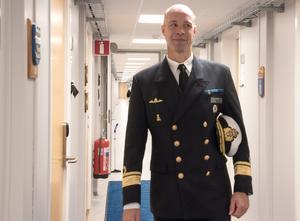 Konteramiral Jens Nykvist är nöjd över marinstabens flytt till Muskö.