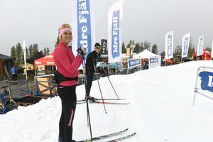 Jenny Solin redo för skidpremiären på Idre Fjäll.
