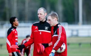 Ransta IK:s Johan Barkskog och Erik Folkegård.
