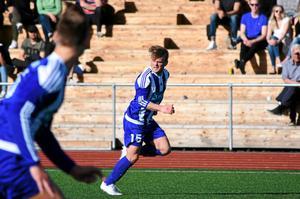 Marcus Jössund från en match i division 3 förra året då Kramfors-Alliansen vann serien.