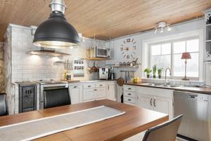 I huset finns bland annat ett Vansbrokök med en vedspis. Foto: Patrik Persson