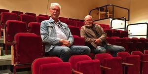 Per Målare (tv) och Yngve Mauritsson jobbar för fullt med den nya bioföreningen.