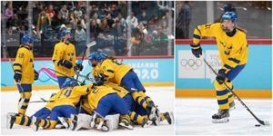 Sverige kunde fira finalplatsen i ungdoms-OS på måndagen. Till höger SSK:s forward Beatrice Hjälm. Foton från IOK.