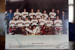 Juniorlaget 1980-81.Längst bak står Kjell Olsson och Mats Lusth.