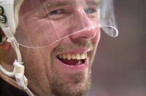 Pär Djoos i samband med NHL-Challenge mellan Colorado och Brynäs, hösten 2001. Foto: TT