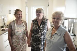 Britt-Marie Wessel Johansson, Britt Engstrand och Siv-Inger Källmark serverade många besökare för Funäsdalens byalags räkning.