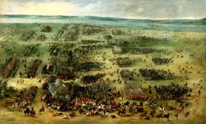Slaget vid Kirkholm 1605, målning av Peter Snayer från 1630. Anton Kronman, huvudpersonen i Elias Glavebys roman