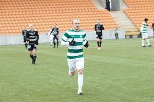 Florén i VSK:S träningsmatch mot Carlstad United.