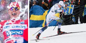Alexander Bolshunov och Calle Halfvarsson.