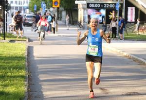Mikaela Kemppi, Örebro AIK, kom tvåa med tiden 18.41.