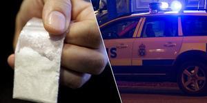En 30-åring från Smedjebacken haffades med misstänkt amfetamin värt cirka 15 000 kronor i fickan. (Bilden är ett montage)