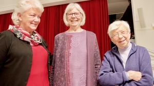 Maj-Britt Halvarsson, projektledare, tillsammans med lärarna Birgitta Westergren och Britt Aronsson.