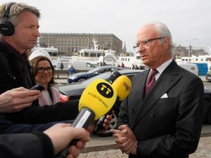 Svenska Akademiens högste beskyddare, kung Carl XVI Gustaf, uttalar sig om dess kris.Foto: Anders Wiklund/TT