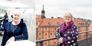 """""""Kampen om jämställdheten ger ingen ro. Det ser vi inte minst när vi blickar ut över Europa"""" skriver Ingalill Persson och Carina Ohlsson från S-kvinnor.  Foto: Johan Solum/DT/Pressbild Elin Vinger Elliot/Montage"""