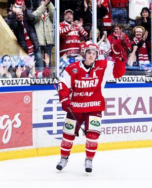 Anton Lander tackade tårögt hemmapubliken efter sista matchen i Timråtröjan på ett tag.