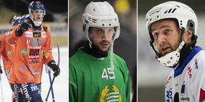 Patrik Nilsson, Christoffer Fagerström och Joakim Hedqvist är tre målkungar med utgående avtal. Bild: Peter Axman / Andreas Tagg