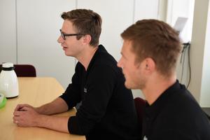 Det är första gången bröderna Jonas och Emil Forsberg arbetar tillsammans.