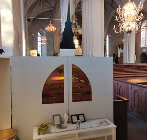 Lilla Stora Tuna kyrka flyttar till Kupolen – för en dag. Foto: Privat.