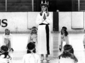 Konståkarna i Castor gled fram på is 1977, Lucian hette Madeleine Sjöström.Foto: ÖP:s arkiv