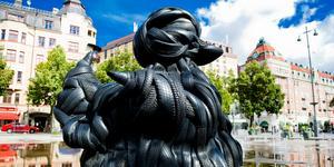 Rubber duck heter konstverket, som är gjort av Villu Jaanisoo. Arkivbild.