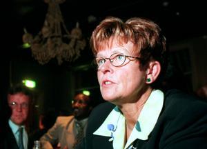 1998. Birgitta Sellén (C) på Centerpartiets valvaka på Spökhuset, nuvarande Casino Cosmopol.