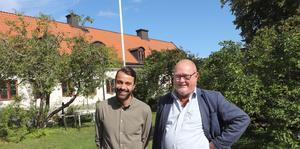 André Enkler och Michael Blum i museiparken, där Kulturarvsdagen firas söndag den 8 september.