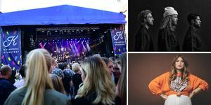 Till Kramfors stadsfest kommer bland annat Linnea Henriksson och Movits.  Foto: arkivbild/Hanna Persson, Movits/pressbild, Linnea Henriksson/pressbild