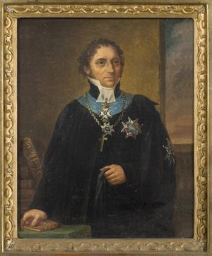 Johan Olof Wallin. Målning av Carl Wilhelm Nordgren.