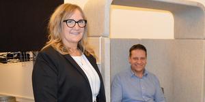 Annika Larsson och Patrik Eriksson ser fram emot att få jobba inom nya områden när de nu har sålt sin firma och blivit anställda.