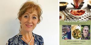 """Mona Samoiel Tihane och boken """"Lucias mat"""" som är en hyllning till hennes mor."""