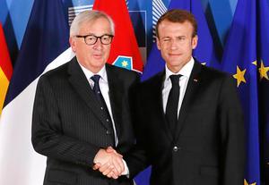 Jean-Claude Juncker, avgående kommissionsordförande, och Frankrikes president Emmanuel Macron, vill båda fördjupa EU-samarbetet. Bild: Yves Herman/AP
