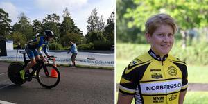 Dubbla guld för Norbergcyklisten Cecilia Hansen. Foto: Vilgot Reinholdsson
