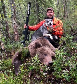 Mats Norberg sköt länets 42:a björn i år.