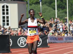 ... och Isabellah Andersson tog SM-guld i halvmaraton. Foto: Adam Ihse/TT