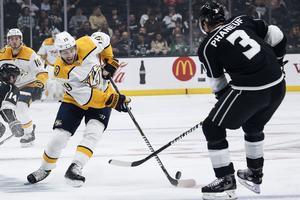 Järnkrok under en match mot Los Angeles Kings den gångna NHL-säsongen. Bild: TT
