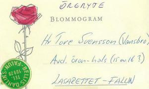 Blommogram från Öis Nisse Olsson.