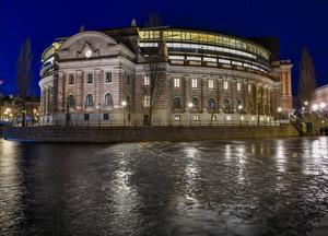 Riksdagen på Helgeandsholmen i Stockholm. Foto: Jonas Ekströmer / TT