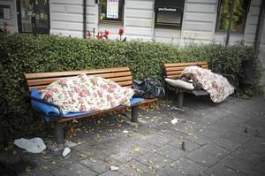 Socialsekreterare varnar för att det blir svårare att nå utsatta, som hemlösa. Foto: Arkivbild